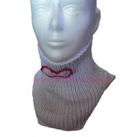 Detský pletený nákrčník s mašličkou