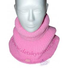 Detský pletený nákrčník ružový