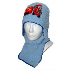 Chlapčenská háčkovaná čiapka s nákrčníkom