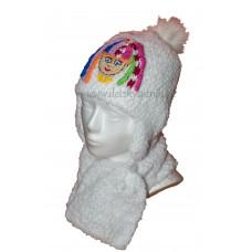 Dievčenská huňatá súprava - čiapka a šál