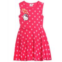 Letné dievčenské šaty Hello Kitty s hviezdami