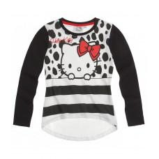 Tričko Hello Kitty s dlhým rukávom čierne