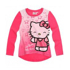 Tričko Hello Kitty s dlhým rukávom tmavo ružové