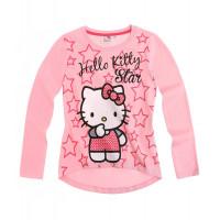 Tričko Hello Kitty s dlhým rukávom bledo ružové