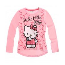 Tričko Hello Kitty s dlhým rukávom bledo ružové č.116