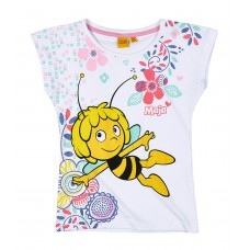 Dievčenské tričko Včielka Maja letné biele