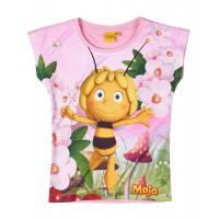 Dievčenské tričko Včielka Maja slabo ružové