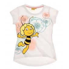 Dievčenské tričko letné Včielka Maja biele