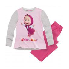 Pyžamo dlhé dievčenské Máša a Medveď ružové
