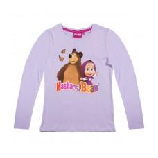 Tričko Máša a Medveď fialové dlhý rukáv