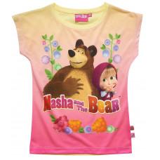 Tričko s krátkym rukávom Máša a Medveď