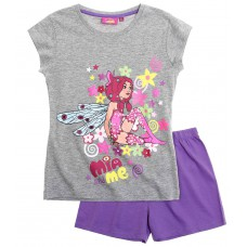Dievčenské letné pyžamo Mia a Ja šedo-fialové
