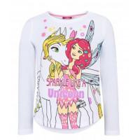 Dlhé dievčenské tričko Mia a ja biele