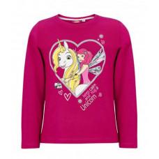 Dlhé dievčenské tričko Mia a ja fuchsia
