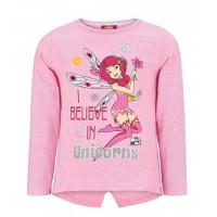 Dlhé dievčenské tričko Mia a ja ružové