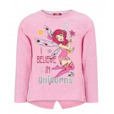 Dlhé dievčenské tričko Mia a ja ružové č.104