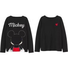 Tričko Disney Mickey Mouse s dlhým rukávom čierne