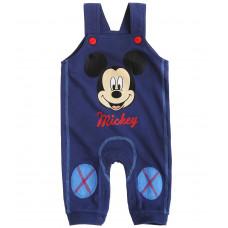 Nohavice na traky Disney Mickey Mouse modré č.68