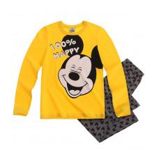 Pyžamo chlapčenské dlhé Mickey Mouse žlté