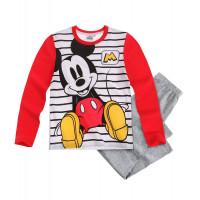 Pyžamo chlapčenské dlhé Mickey Mouse šedé