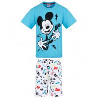 Chlapčenské letné pyžamo Disney Mickey Mouse modré