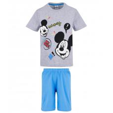 Chlapčenské letné pyžamo Disney Mickey Mouse šedé