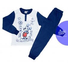 Pyžamo chlapčenské dlhé Mickey Mouse tmavo-modré