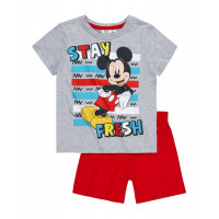Pyžamo chlapčenské letné Disney Mickey Mouse šedé č.128
