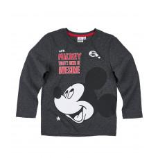 Tričko Disney Mickey Mouse s dlhým rukávom šedé