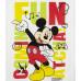 Chlapčenské letné tričko Mickey Mouse biele
