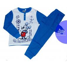 Pyžamo chlapčenské dlhé Mickey Mouse bledo-modré