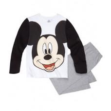 Pyžamo chlapčenské dlhé Mickey Mouse bielo-čierne 110, 128