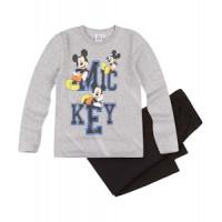 Pyžamo chlapčenské dlhé Mickey Mouse šedo-čierne