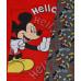 Pyžamo chlapčenské dlhé Mickey Mouse červeno-šedé č.104,128