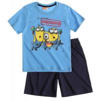 Pyžamo Mimoni s krátkym rukávom modré