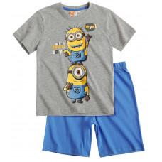 Pyžamo Mimoni s krátkym rukávom šedé