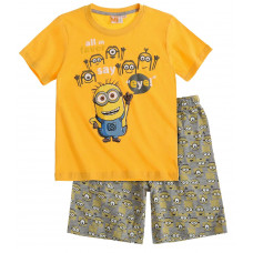 Pyžamo Mimoni s krátkym rukávom žlté