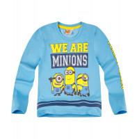 Chlapčenské tričko Mimoni s dlhým rukávom modré