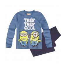 Pyžamo chlapčenské Mimoni s dlhým rukávom modré