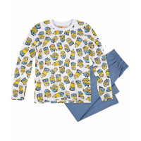 Pyžamo chlapčenské Mimoni s dlhým rukávom biele