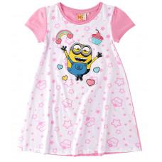 Dievčenská nočná košeľa Mimoni biela