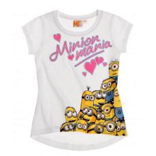 Mimoni dievčenské tričko biele