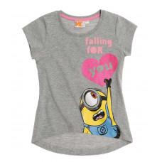 Mimoni dievčenské tričko šedé
