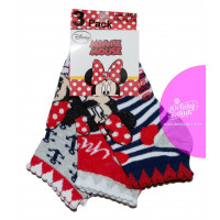 Dievčenské ponožky Disney Minnie členkové šedé 31/34