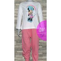 Dlhé dievčenské pyžamo Disney Minnie ružové
