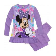 Dlhé dievčenské pyžamo Disney Minnie fialové