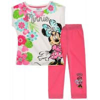 Tričko s legínami Disney Minnie ružové