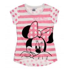 Dievčenské letné tričko Disney Minnie ružové