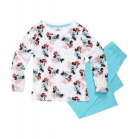 Pyžamo Disney Minnie s dlhým rukávom tyrkysové