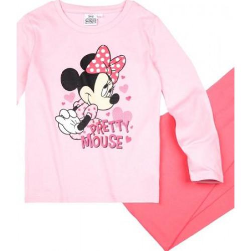 c15c17c32 Pyžamo Disney Minnie s dlhým rukávom slabo ružové | Oblečenie pre deti